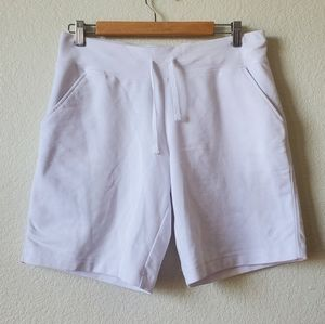 Danskin Now Womans White Shorts With Pockets